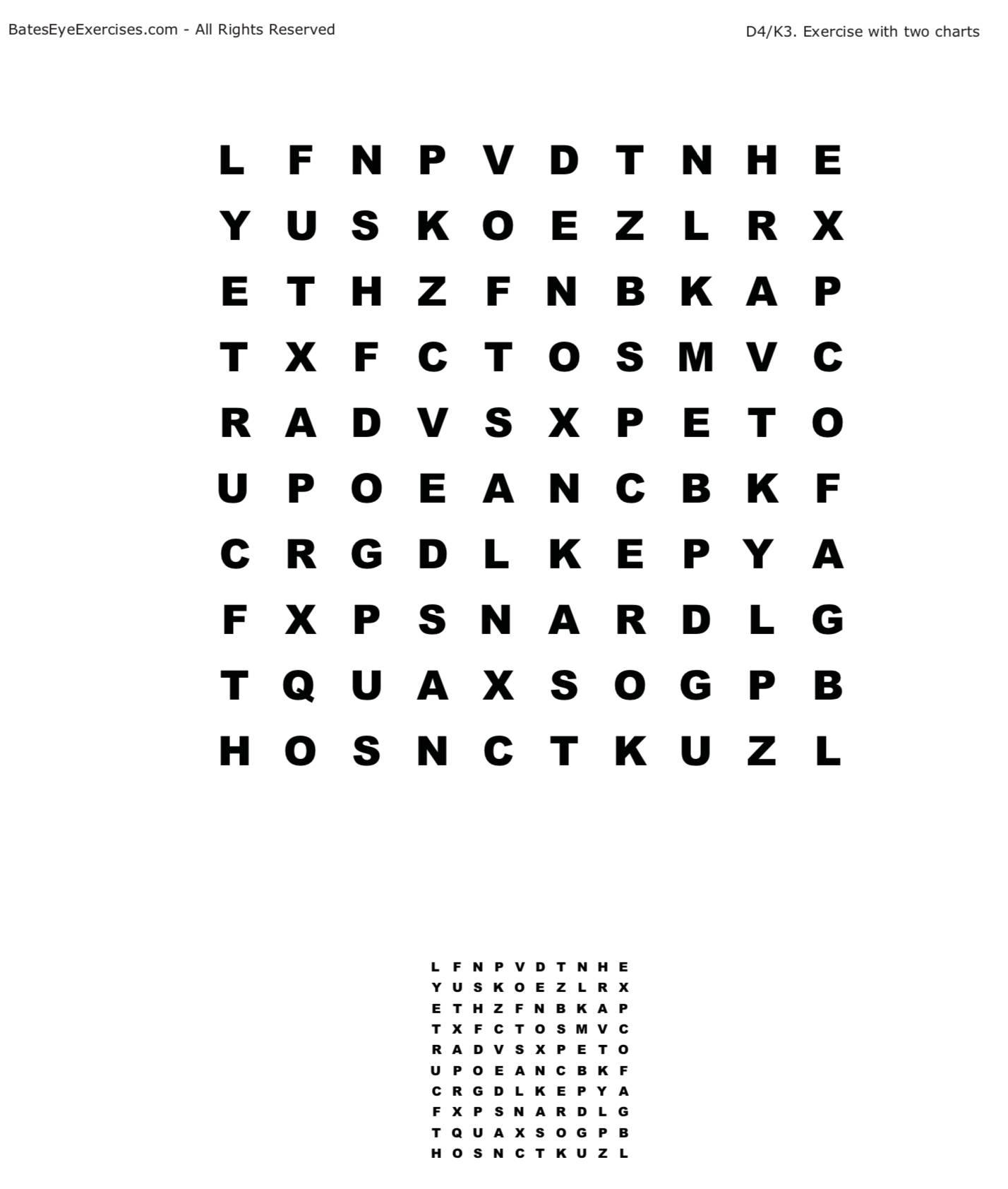 Bateseyeexercises myopia exercises download the chart nvjuhfo Images